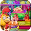 烹饪鸡工厂